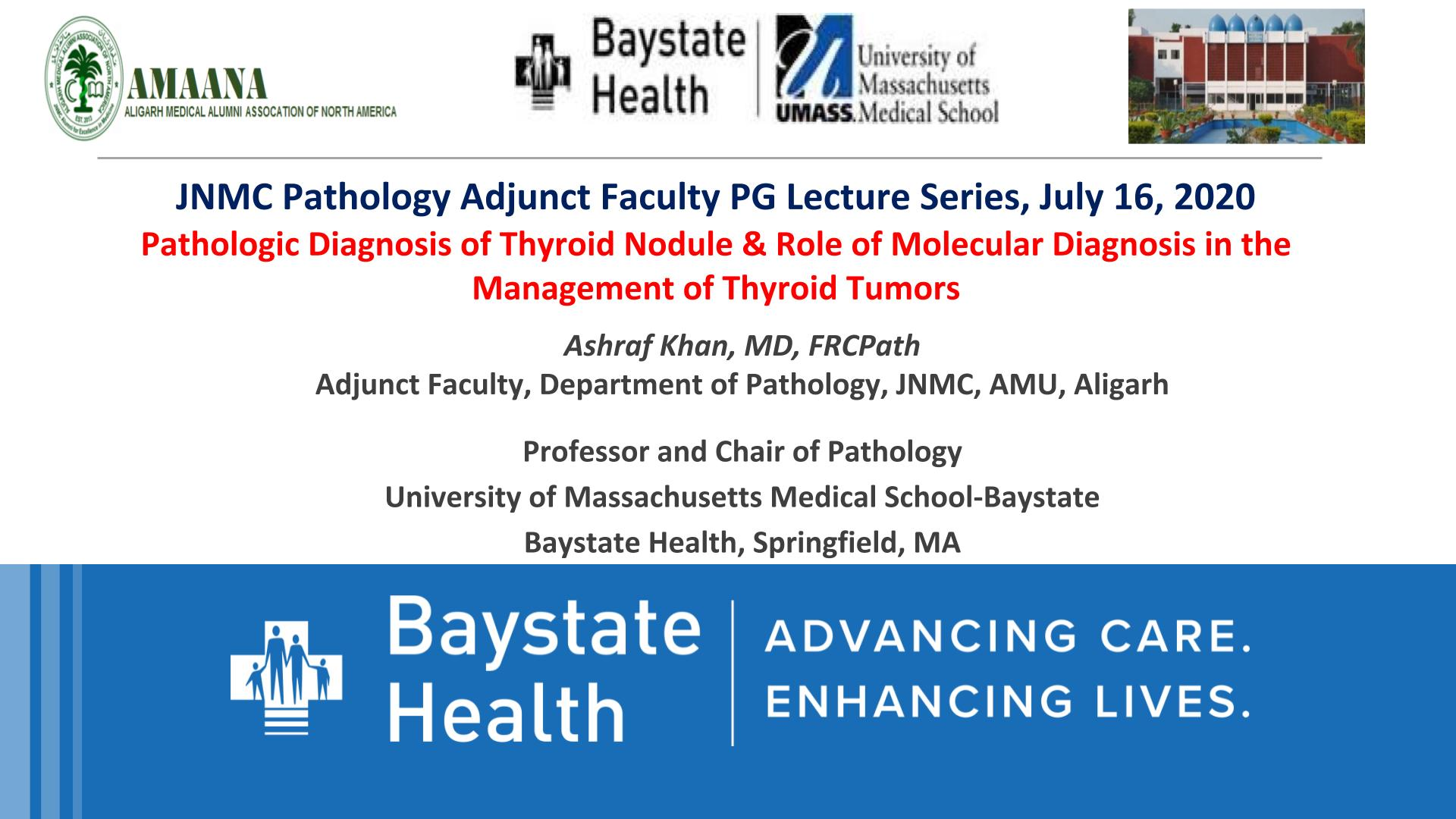 JNMC Pathology Adjunct Faculty PG Lecture Series 2020